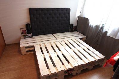 łóżko Z Eupalet Plus Tapicerowany Zagłówek Wysokie