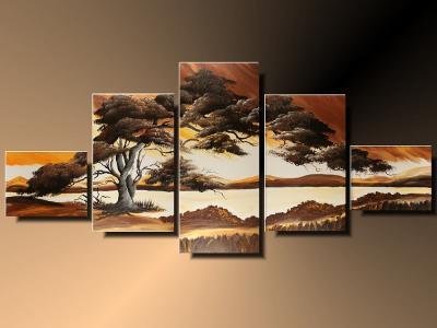 Mega Obraz 5 Częściowy Afryka Widok Góry 4372315866