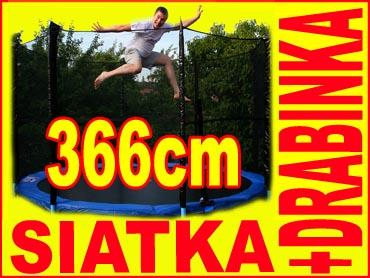 ANGIELSKA TRAMPOLINA SKYJUMP 366 cm 12ft +DRABINKA