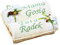 Prezent Święta Dla Mamy Taty Ręczniki Haft Imię