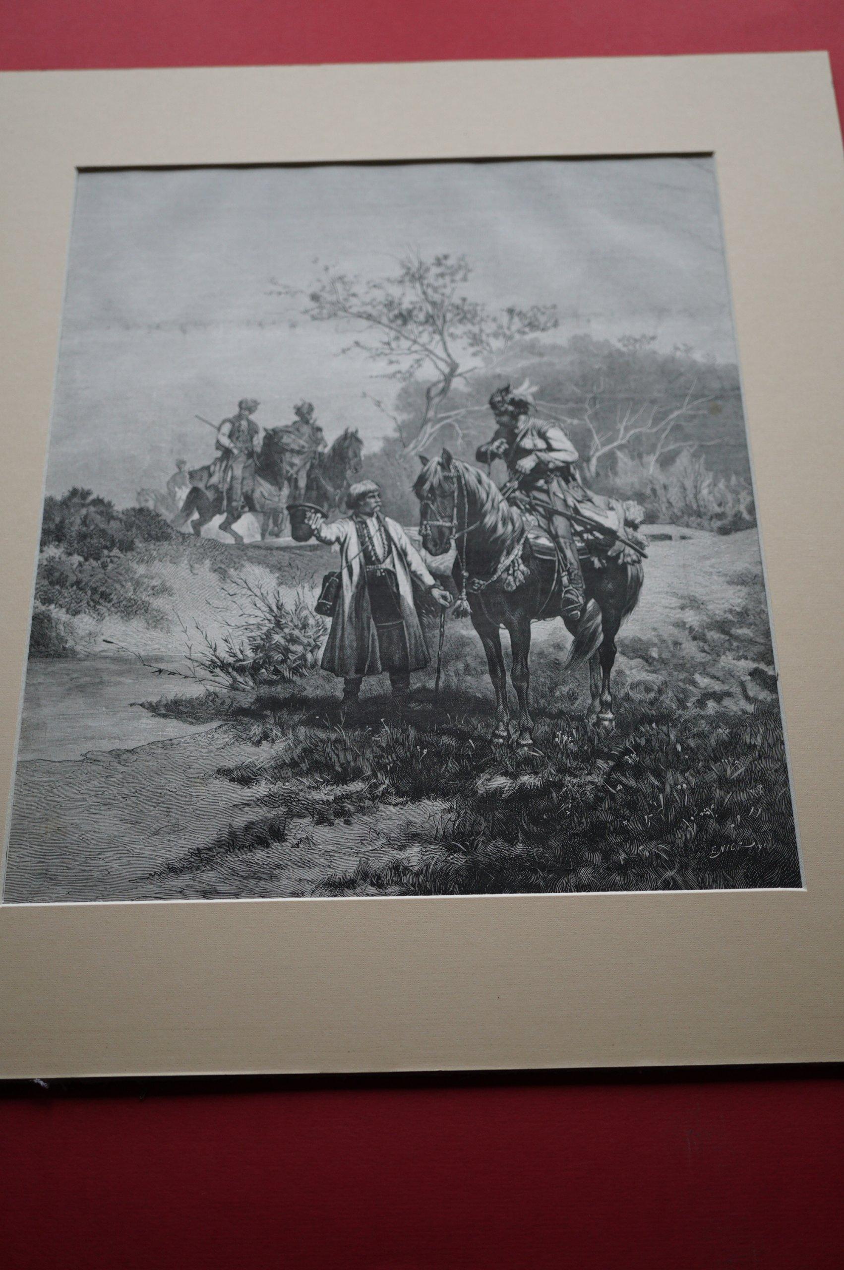 SZERNER W.: Lisowczycy w pochodzie. Drzeworyt 1882