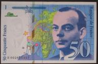 Francja - 50 franków - 1992 - stan UNC -