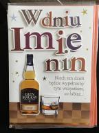 Karta imieninowa dla mężczyzny kobiety alkohol