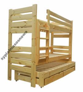 Gladiator 90x200 łóżko Piętrowe 3 Osob Mega Mocne