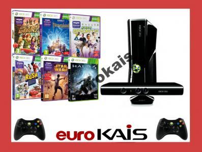 Konsola Xbox 360 250gb Slim Kinect 40 Gier 2 Pady 3872856409 Oficjalne Archiwum Allegro