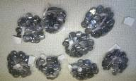 Kaboszon szklany szkiełko owalny 200 sztuk