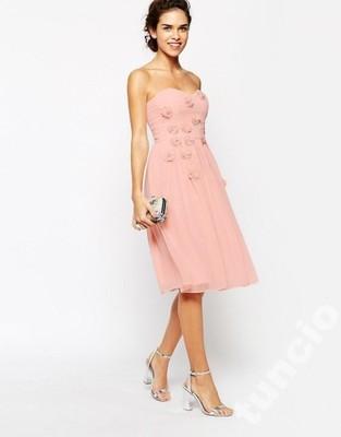 3a5931005d Elise Ryan -pudrowa różowa gorsetowa sukienka - 40 - 6900224167 ...