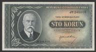 CSRS (Czechosłowacja) - 100 koron - 1945 - Masaryk