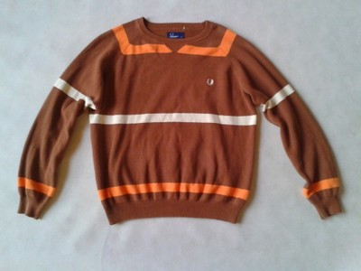 ! FRED PERRY ! SWETER W PASY ! LOGO ! M L !