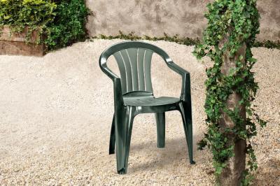 Krzesło Ogrodowe Plastikowe Curver Sicilia Zielone