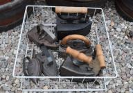 Zestaw starych żelazek ŻELAZKA 8 sztuk różne