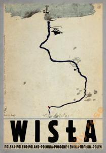 Wisła Plakat Z Serii Polska Ryszard Kaja