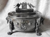 Srebrna cukiernica żydowska srebro 84 1844 Rosja