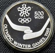 KOREA - 500 WON 1988 - OLIMPIADA - HOKEJ