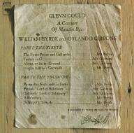 Glenn Gould A Consort Of Musicke Bye William Byrde