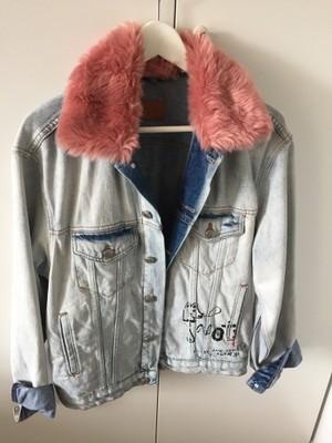kurtka jeans z futerkiem zara