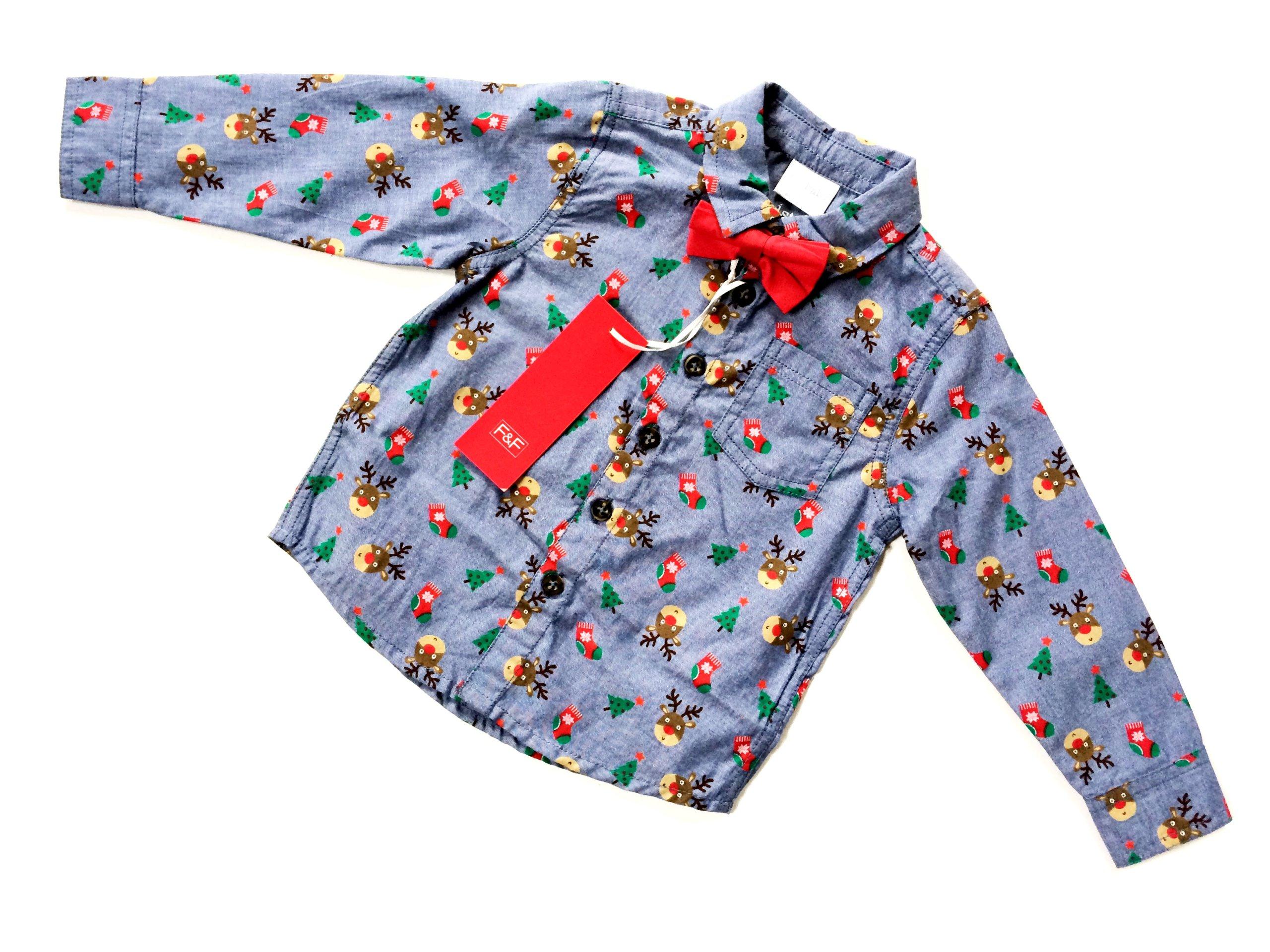 F&F ŚWIĘTA koszula muszka 86 12-18m