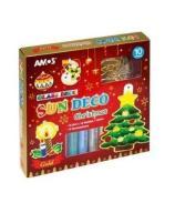 Farby witrażowe 10 kolorów+ witraże christmas AMOS