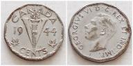 Kanada 5 centów 1944r