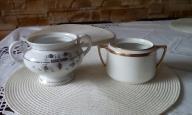 Dwie stare porcelanowe cukiernice