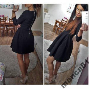 a9c4c17f32 Sukienka OLIVIA czarna rozkloszowana RAGAZZA s - 6481469769 ...