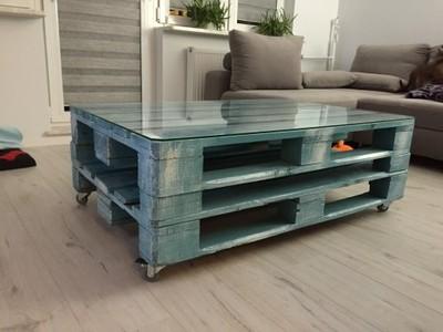 Stolik Stół Z Palet 80x120 Szyba