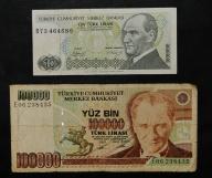 1970 Turcja - 10,100000 lirów