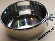 MISKA METALOWA PRZYKRĘCANA na pokarm/wodę - 12,5cm