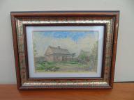 Tenczyn - J.Bonk - 1915 rok - nowy dom - pastele