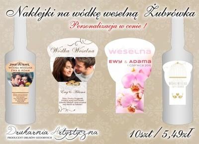 Naklejki Na Wodke Weselna Ze Zdjeciem Zubrowka 5270722059 Oficjalne Archiwum Allegro