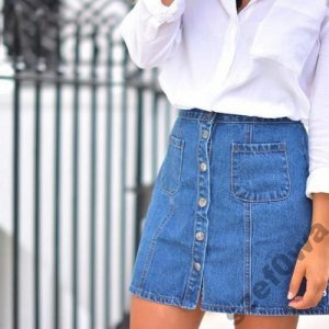 99ebc85e C&A jeansowa spódnica guziki hit 36 S od zara