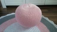 pufa ze sznurka bawełnianego wolle ball dziergana