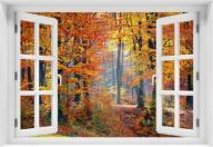 Fototapeta - Okno Krajobraz 3D kr-las-1 NEW 80x120