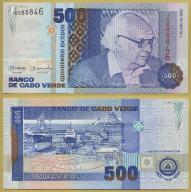 -- CAPE CABO VERDE 500 ESCUDOS 2002 JQ P64b UNC