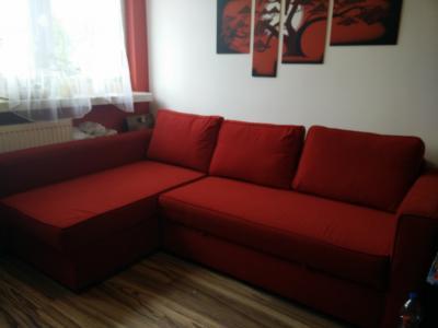 Sofa Narożna Narożnik Ikea Manstad Czerwona 5743432060 Oficjalne