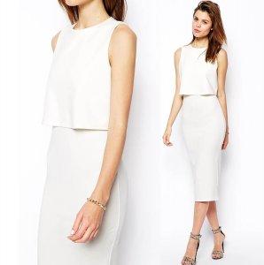 a8378ad3d9 ASOS sukienka ołówkowa biała ELEGANCKA crop S - 6181822213 ...