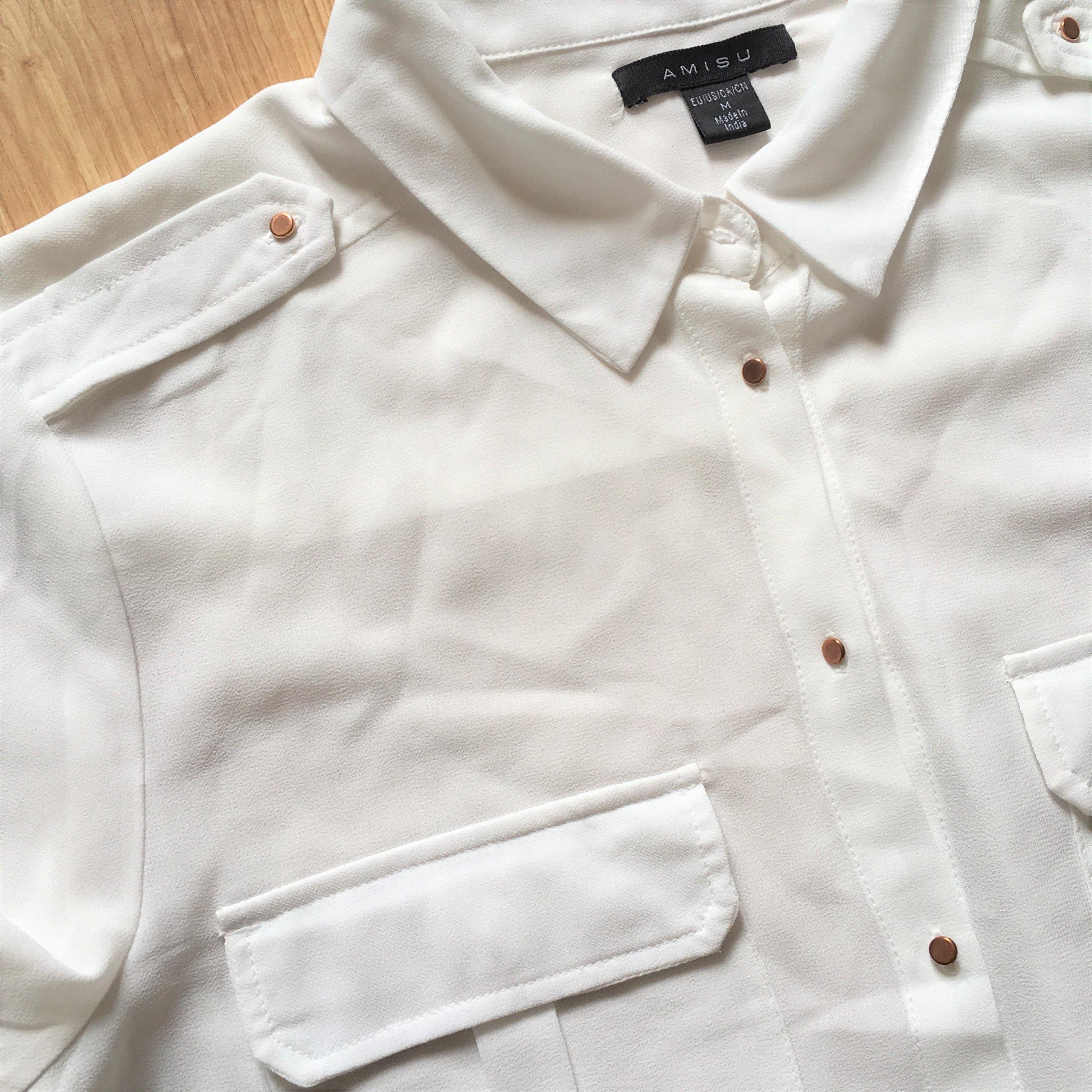 Biała koszula tunika NEW YORKER ___M__ OKAZJA 7019352837  WAZpj