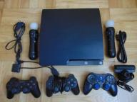 Sony Playstation 3 320GB + gry, move, pady, kable