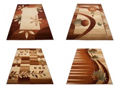 Dywan Heat Set 60x100 Cm Gładkie Tanie 0437 Brąz