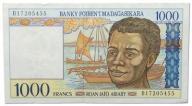 28.Madagaskar, 1 000 Franków 1994, P.76, St.2