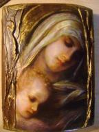 Ikona Obraz Matka Boska - praca ręczna autorska