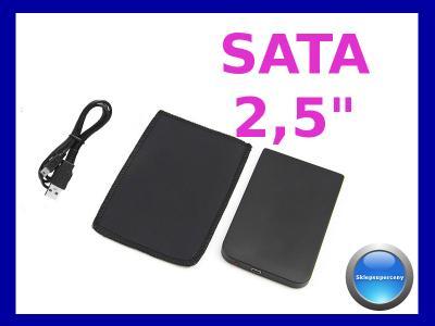 OBUDOWA NA DYSK SATA 2,5 KIESZEŃ + ETUI DO 1TB USB