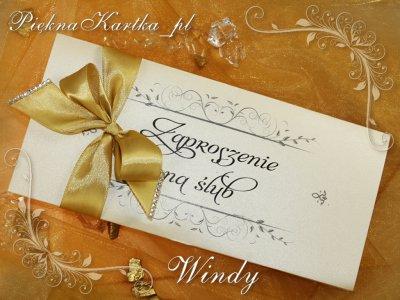 Zaproszenia ślubne ślub Chrzest Rocznica Windy A5 6173292976