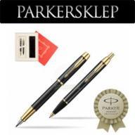 Zestaw Parker pióro + długopis IM Czarny GT 101W