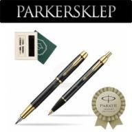 Zestaw Parker pióro + długopis IM Czarny GT 100N
