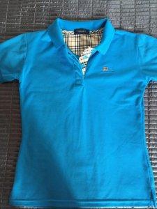 940d7323f Bluzka koszulka polo BURBERRY niebieska 40 L - 6150711859 ...