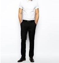 P20 spodnie exASOS slim kant eleganckie W33 L32
