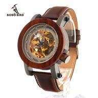 Zegarek Drewniany BoBo Bird Skeleton Mechaniczny !