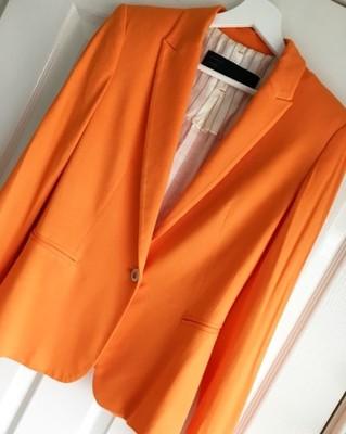 8c3d1dd130012 Marynarka Blazer ZARA pomarańczowa M - 6823167220 - oficjalne ...