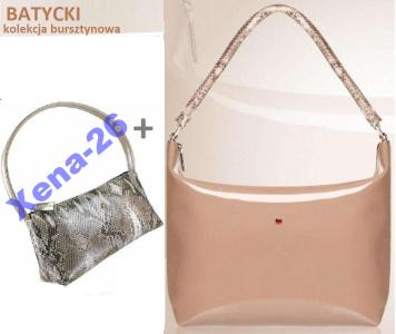 109a82c626e2c BATYCKI 2 torba torebka skóra logo bursztyn Avon - 5244097069 ...
